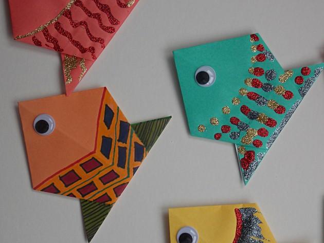 Les plus beaux poissons d'avril origami