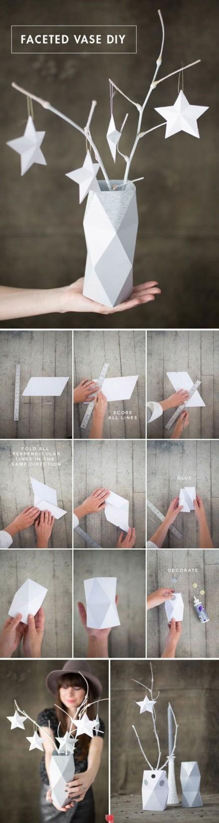 Créer votre vase déco en origami