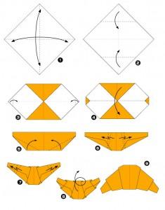 Réaliser un croissant en papier