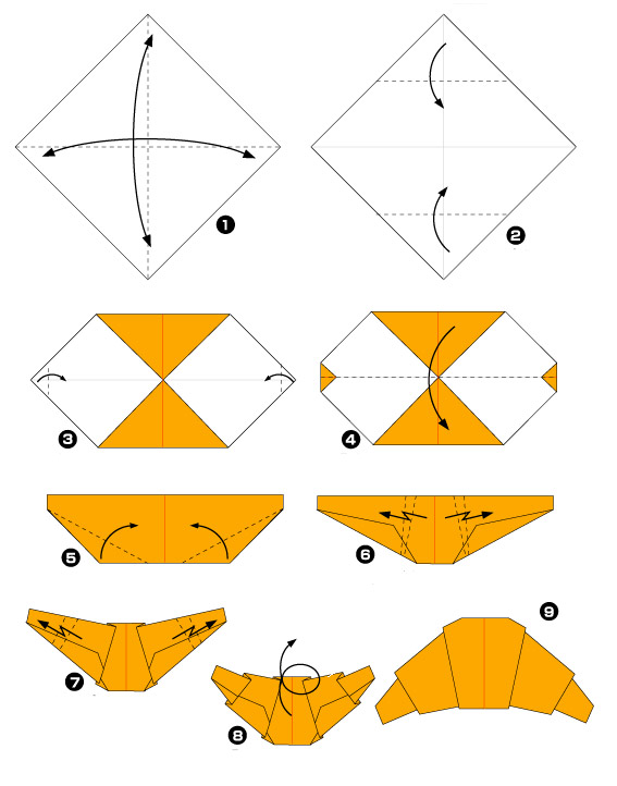 diagramme croissant origami origami day chaque jour son origami. Black Bedroom Furniture Sets. Home Design Ideas