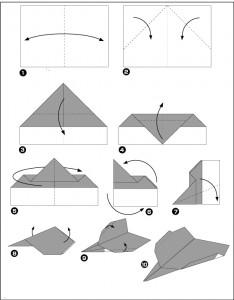 Diagramme avion en papier