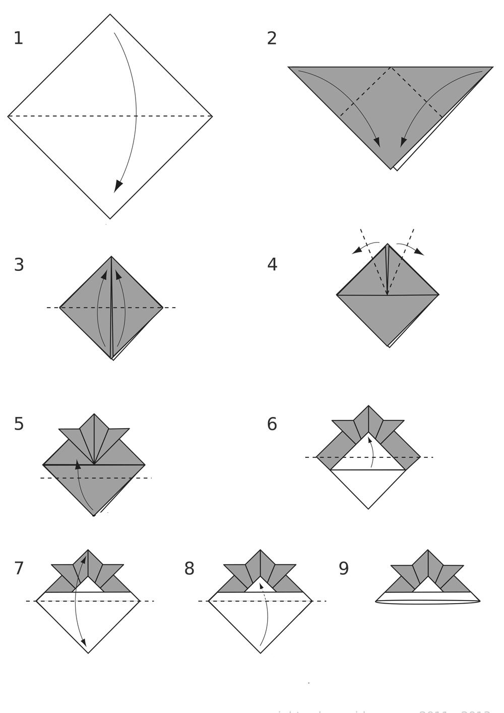Origami casque samourai origami day chaque jour son origami origami day - Origami facile video ...
