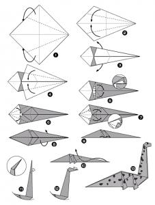 Tutoriel origami diplodocus