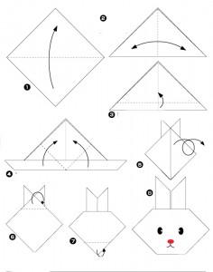 Origami facile lapin