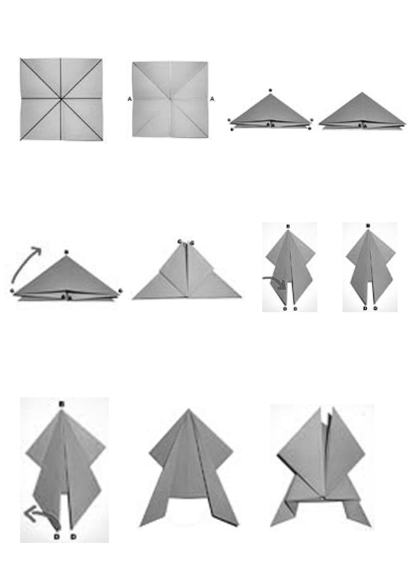 diagramme origami grenouille papier sauteuse origami day. Black Bedroom Furniture Sets. Home Design Ideas