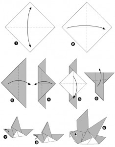 Diagramme origami pigeon