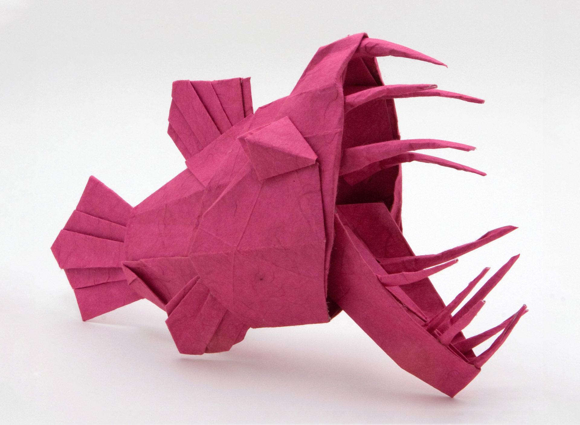 Faire poisson origami avril origami day chaque jour - Origami rose facile a faire ...