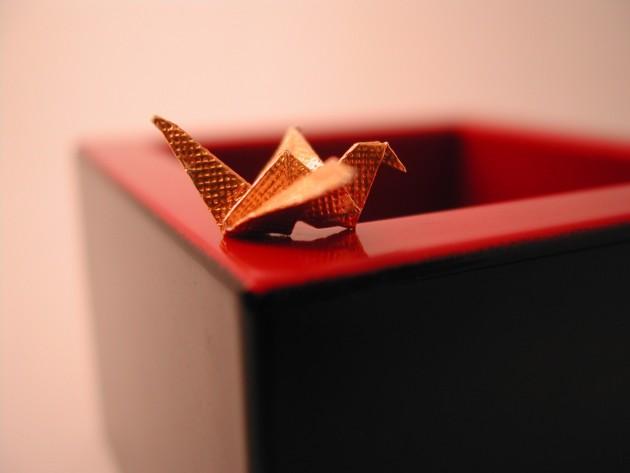 Fond écran origami oiseau