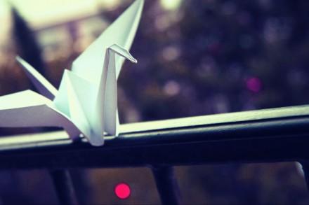 Fond écran origami grue