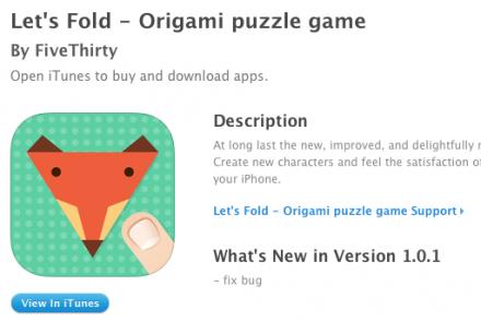 Let's Fold – Jeu Origami puzzle pour iPhone iPad