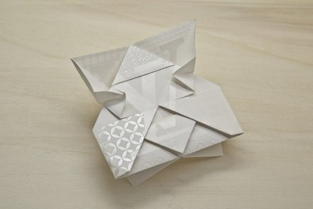 Louis Vuitton invitation origami
