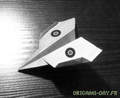 Origami avion de chasse
