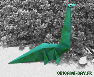 Origami diplodocus