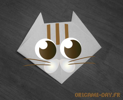 Origami origami day chaque jour son origami origami day chaque jour son origami - Origami tete de chat ...