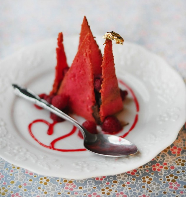Un dessert en origami