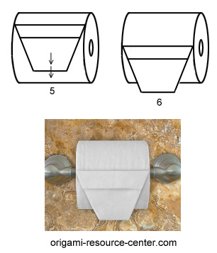 origami papier toilette 3 origami day chaque jour son origami. Black Bedroom Furniture Sets. Home Design Ideas
