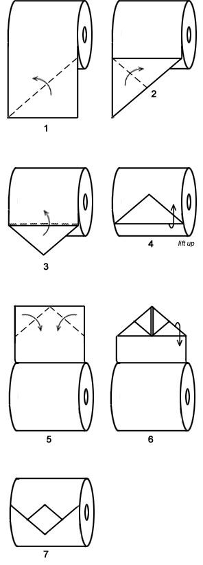 origami papier toilette  2