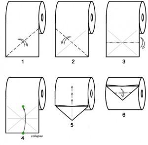 origami-toilette-papier-papillion-1