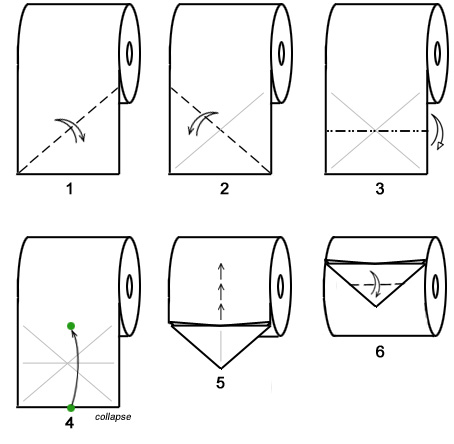 origami papier toilette  6