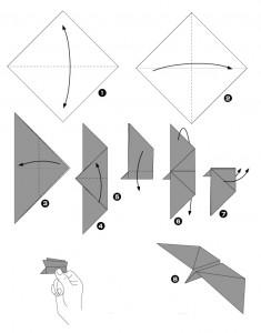 Papillon en papier qui vol