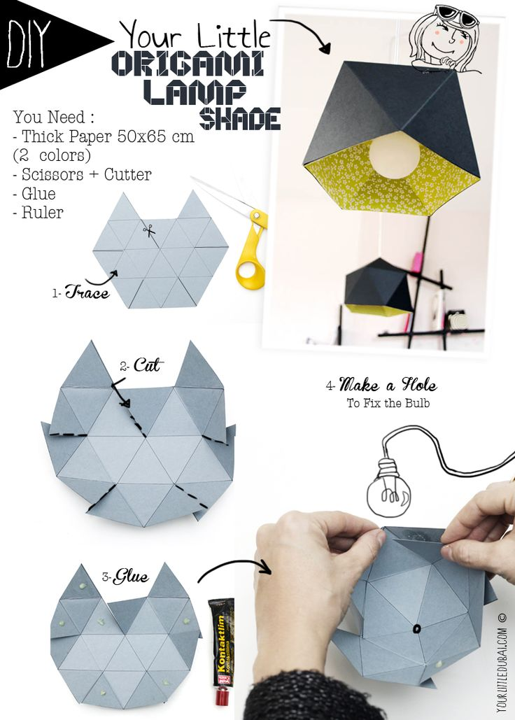 tuto lampe papier origami facile origami day chaque jour son origami origami day chaque. Black Bedroom Furniture Sets. Home Design Ideas