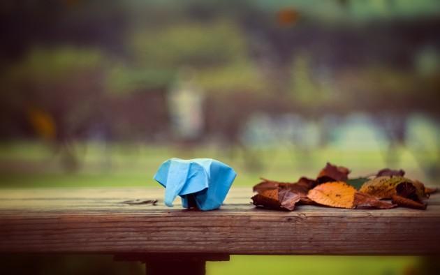 Fond écran origami éléphant